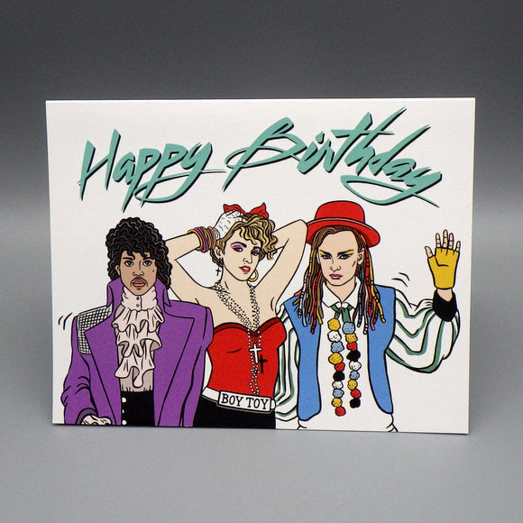 Birthday Card - 80's Party