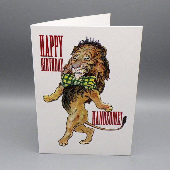 Birthday Card - Handsome Lion