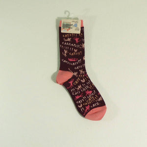 Women's Crew Socks - Cats!