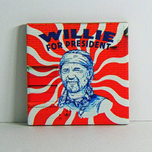 Ceramic Tile Coaster - Willie for President Mural