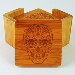 Wooden Coasters - Day of the Dead