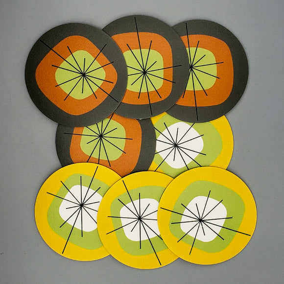 Atomic Vinyl Coasters [Set of 8]