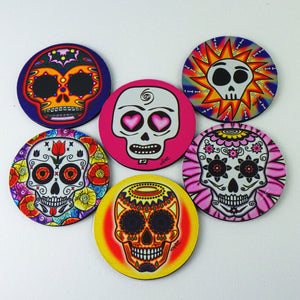 Rubber Coasters - Day of the Dead Set