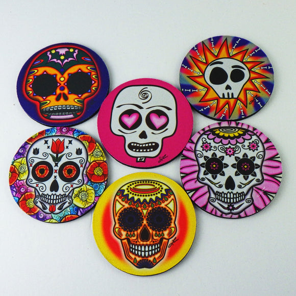 Rubber Coasters - Calaveras Set by Frenzy