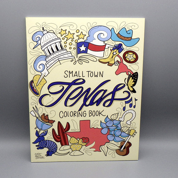 Coloring Book - Small Town Texas by Becca Borrelli