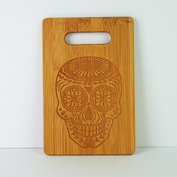 Wooden Cutting Board - Day of the Dead