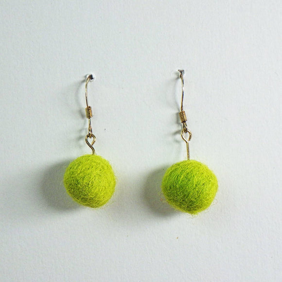 Earrings - Fuzzy Green by Copper Maiden Austin