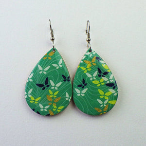 Earrings - Green Butterfly by PrettyKiku