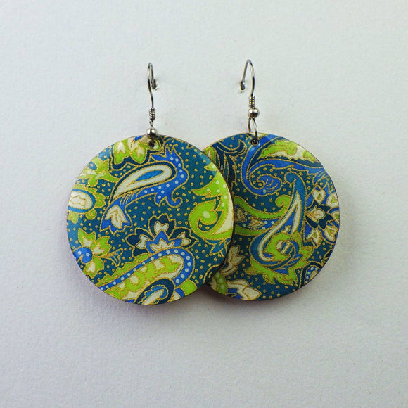 Earrings - Sea Green Butterfly by PrettyKiku