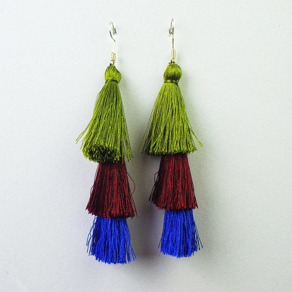 Earrings - Mayan Pom Fringe by Mayan Expressions