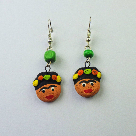 Earrings - Frida Head by Mayan Expressions