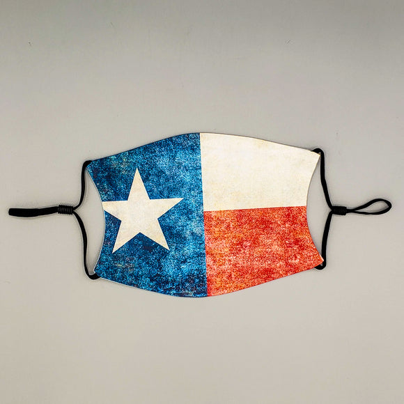 Face Mask with Filter - Texas Flag