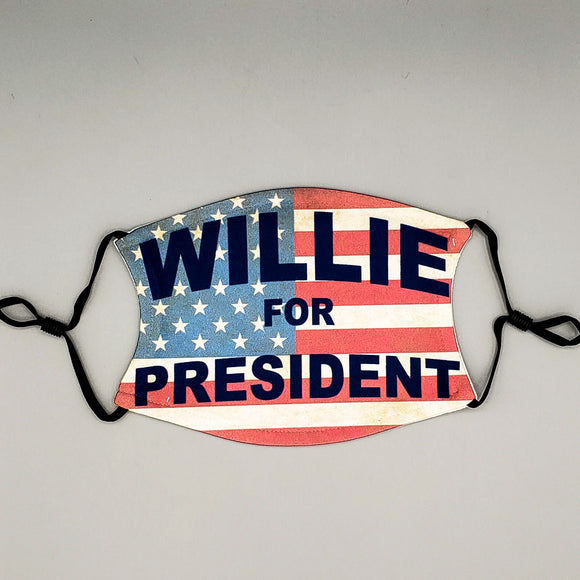 Face Mask with Filter - Willie for President