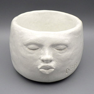 Face Pot - The Kiss by D. Edward Murray