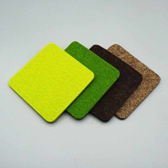 Bierfilzl - Square Felt Beer Coasters [Set of 4]