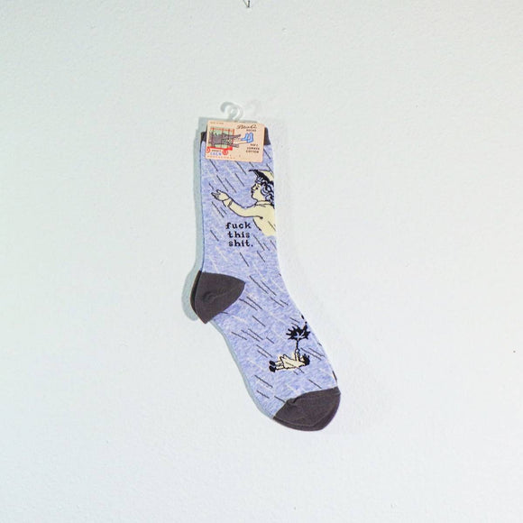 Socks - Women's Crew Socks - Fuck This Shit