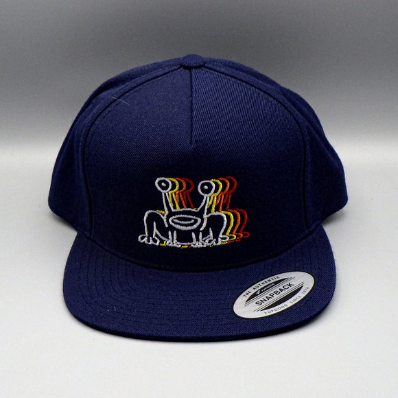 Hat - Daniel Johnston Psychedelic Frog - Navy Blue