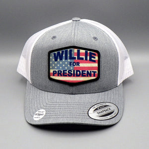 "Trucker Hat - ""Willie for President"" by Exit 82"