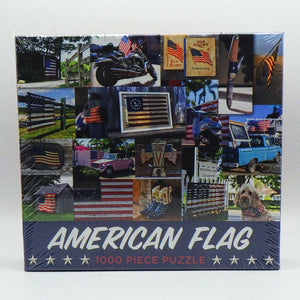 Jigsaw Puzzle - American Flags (1000 Pcs)