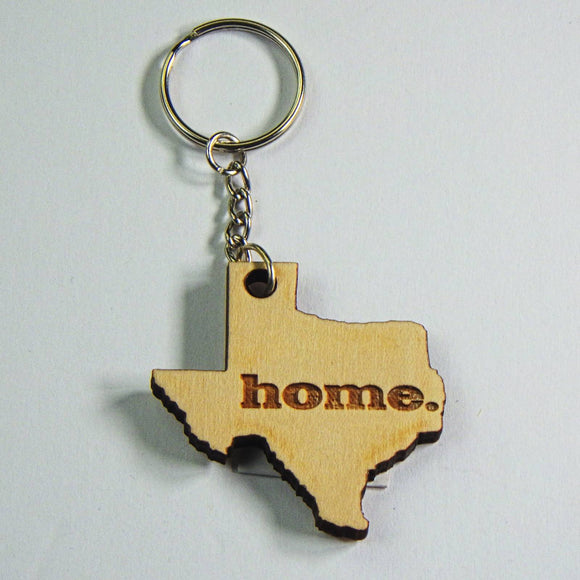 Wooden Keyring - Texas Home by Lazer Beam