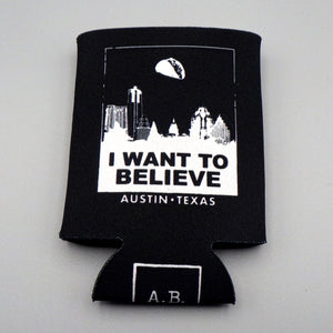 Collapsible Koozie - I Want To Believe ATX