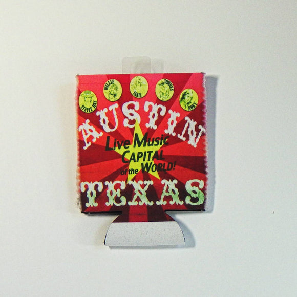 Koozie - Collapsible Austin Live Music Capitol of the World