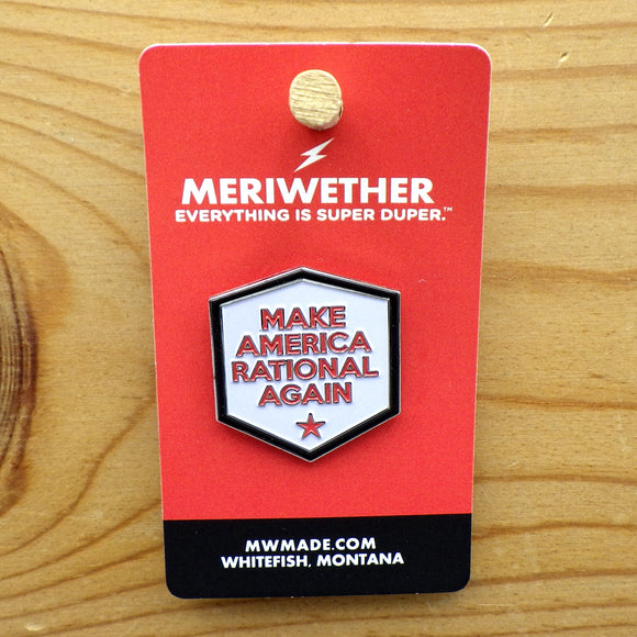 Enamel Lapel Pin - Make America Rational Again