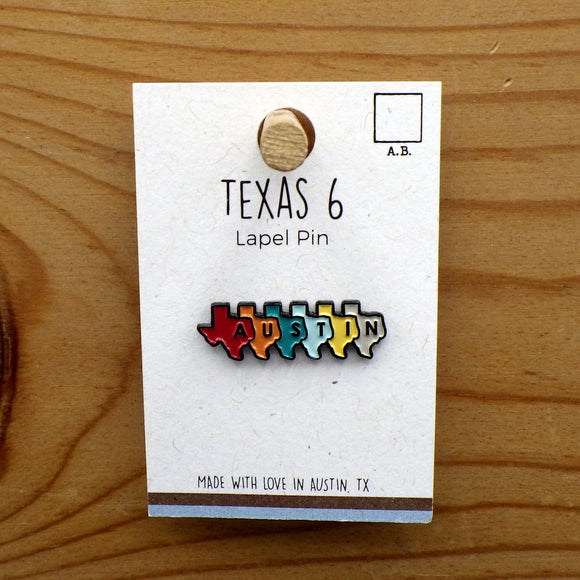 Enamel Lapel Pin - Texas 6