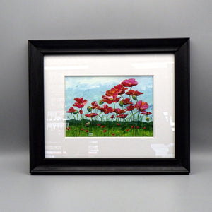 "Framed Print - Field of Poppies by Connie Adcock (5"" x 7"")"