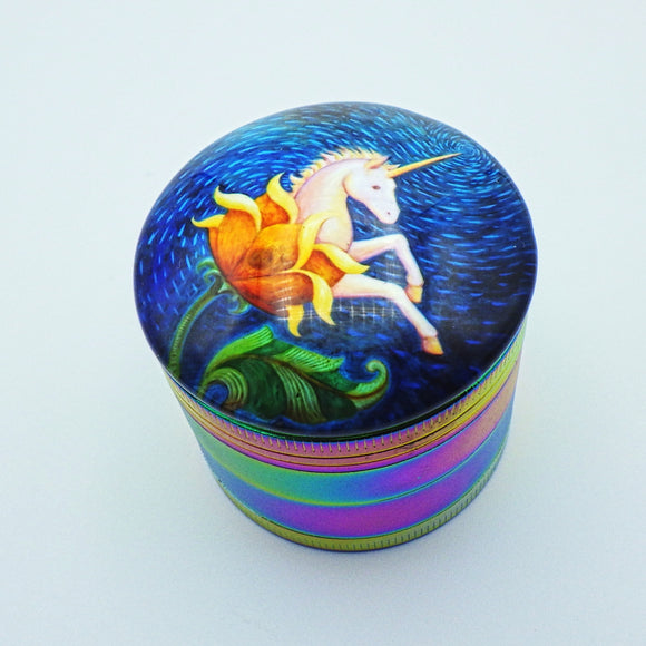 Large Herb Grinder - Unicorn Flower by Eya Claire