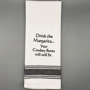 Slogan Tea Towel: Margarita