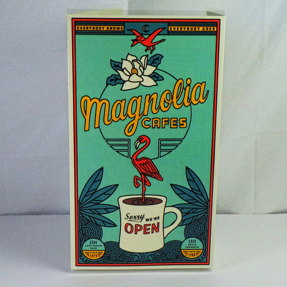 Souvenir Menu from Magnolia Cafe West