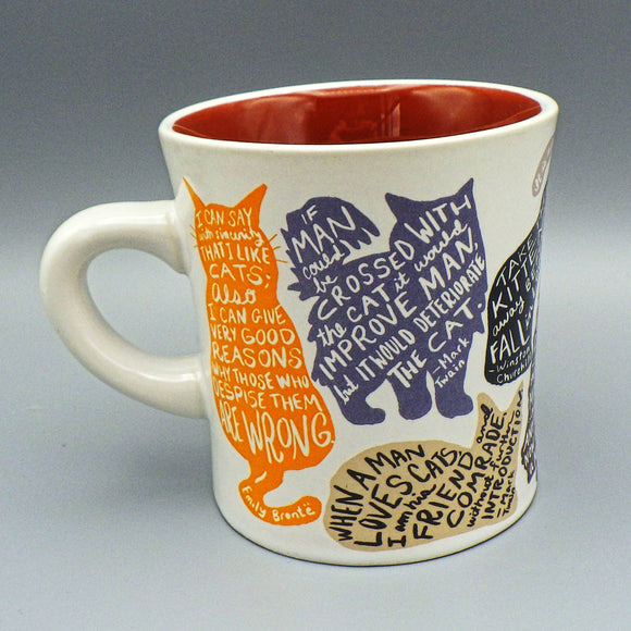 Ceramic Coffee Mug - Literary Cats