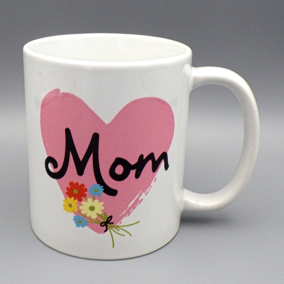 Ceramic Coffee Mug - Mom with Heart