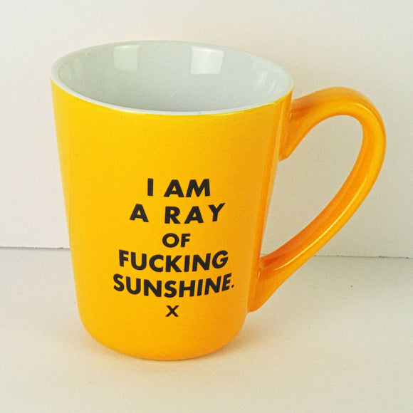 Ceramic Coffee Mug - I Am A Ray of Fucking Sunshine