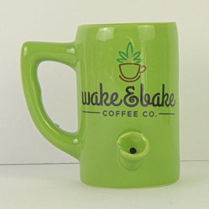 Ceramic Coffee Mug - Lil' Hot Shot Pipe Mug - Wake and Bake Coffee Co.
