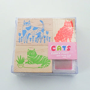 Small Rubber Stamp Kit - Cats