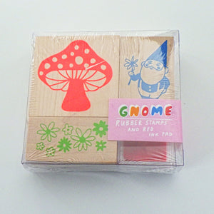 Small Rubber Stamp Kit - Gnome