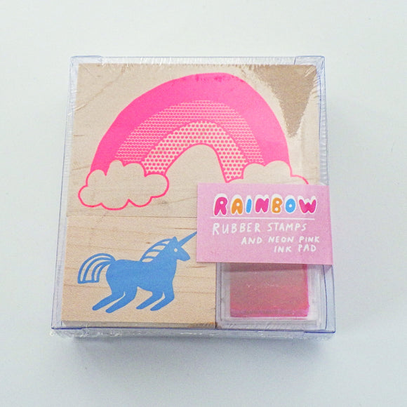 Small Rubber Stamp Kit - Rainbow