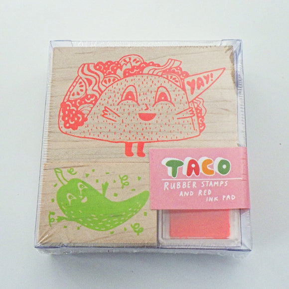 Small Rubber Stamp Kit - Taco