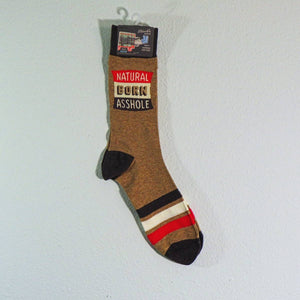 Men's Crew Socks - Natural Born Asshole