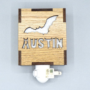 Wooden Night Light - Austin Bat by Lazer Beam