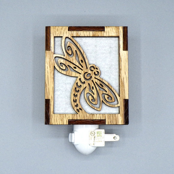 Wooden Night Light - Dragonfly by Lazer Beam