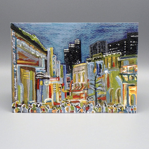 Notecard - 6th Street by Connie Adcock