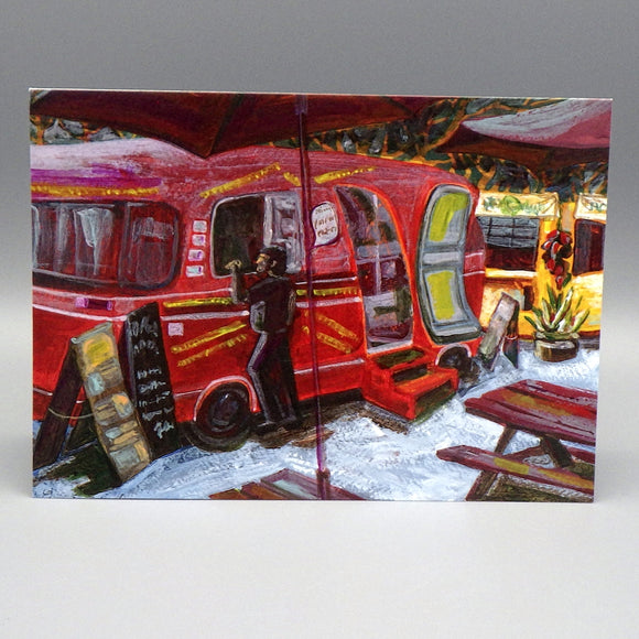 Notecard - Food Trucks by Connie Adcock