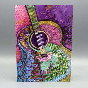 Notecard - Guitar by Connie Adcock