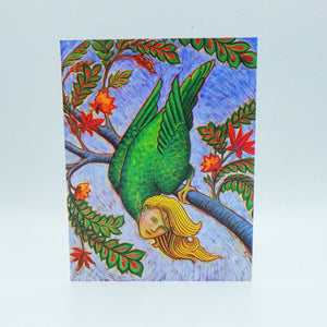 Notecard - Fantastic Bird Woman by Eya Claire