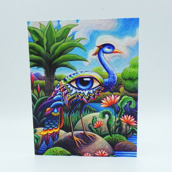 Notecard - Bird of Paradise by Eya Claire