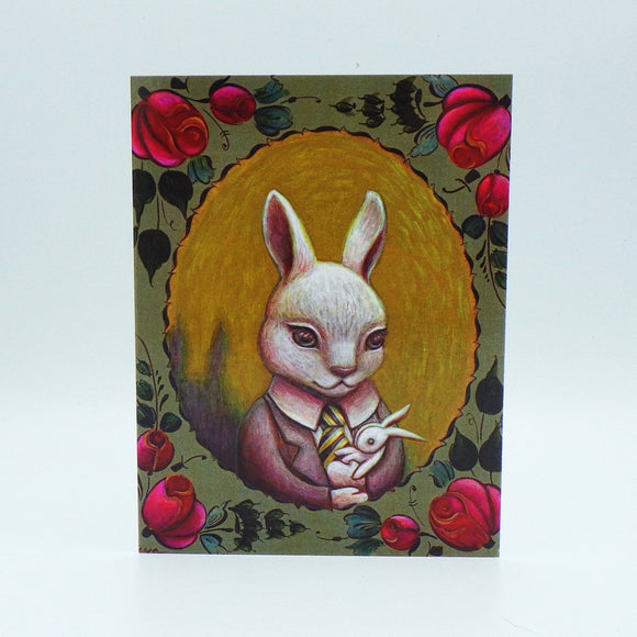 Notecard - Baby Bunny Portrait by Eya Claire
