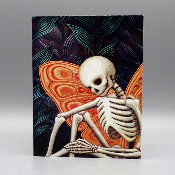 Notecard - Skeleton Butterfly by Eya Claire